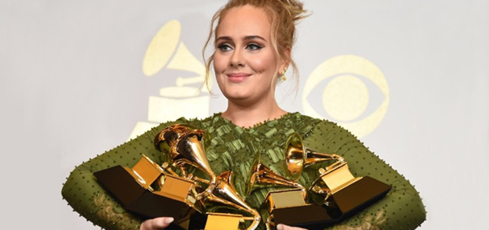 Adele sweeps Grammys with five Award wins